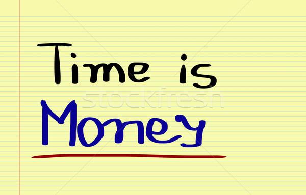 Время-деньги фон связи признаков управления трек Сток-фото © KrasimiraNevenova