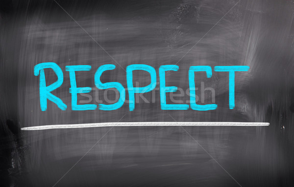 Respect Concept Stock photo © KrasimiraNevenova