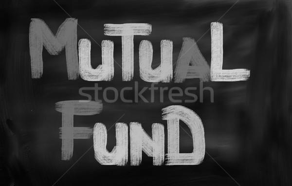 Mutuelle fonds rue Finance financière accent Photo stock © KrasimiraNevenova