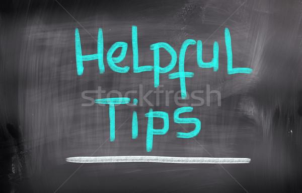 Hilfreich Tipps Business helfen Unternehmen beachten Stock foto © KrasimiraNevenova