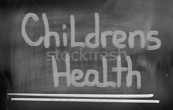 Gezondheid kinderen arts kind professionele zorg Stockfoto © KrasimiraNevenova