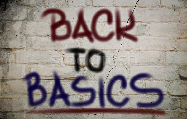 Back To Basics Concept Stock photo © KrasimiraNevenova