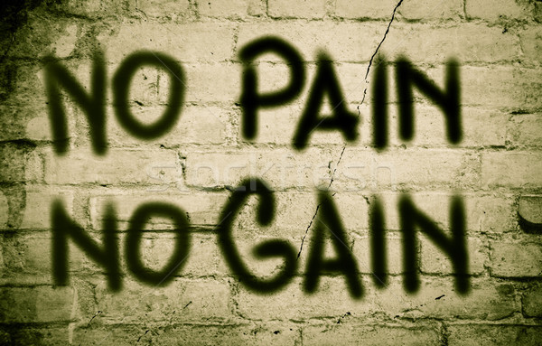 No Pain No Gain Concept Stock photo © KrasimiraNevenova