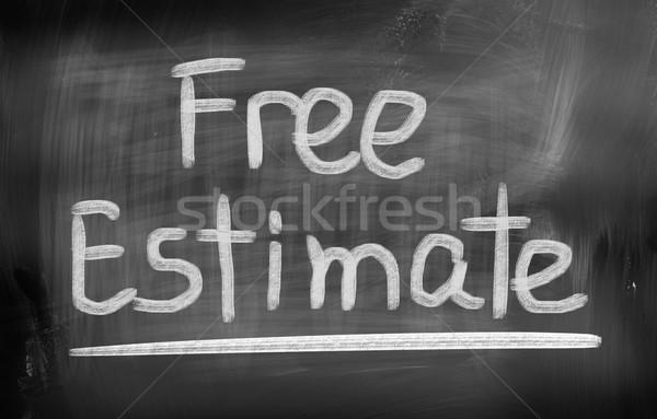 Libre estimar servicio contrato cliente contabilidad Foto stock © KrasimiraNevenova