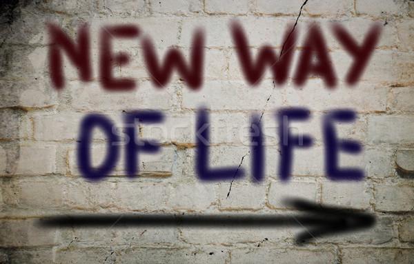 Yeni hayat çalışmak zaman hayat işaretleri rüya Stok fotoğraf © KrasimiraNevenova