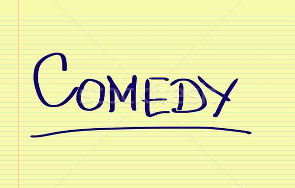 ストックフォト: コメディー · 1泊 · ボード · コンセプト · エンターテイメント · パフォーマンス