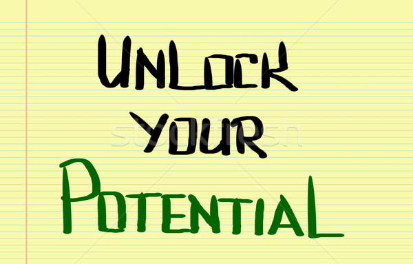 Unlock Your Potential Concept Stock photo © KrasimiraNevenova
