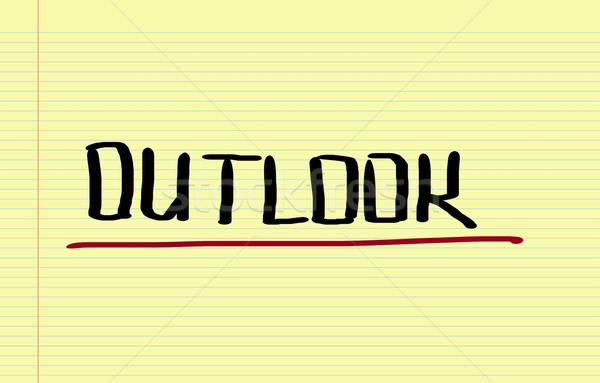 Outlook Concept Stock photo © KrasimiraNevenova
