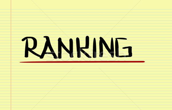 Ranking Business schriftlich Zeit Service Test Stock foto © KrasimiraNevenova