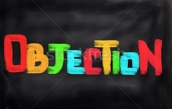 Objection Concept Stock photo © KrasimiraNevenova