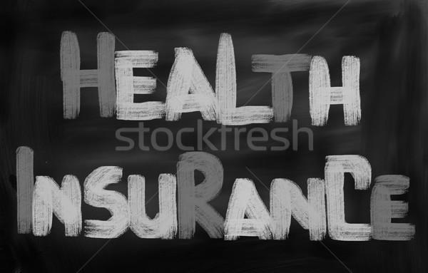 Egészségbiztosítás üzlet egészség törvény adat szerződés Stock fotó © KrasimiraNevenova