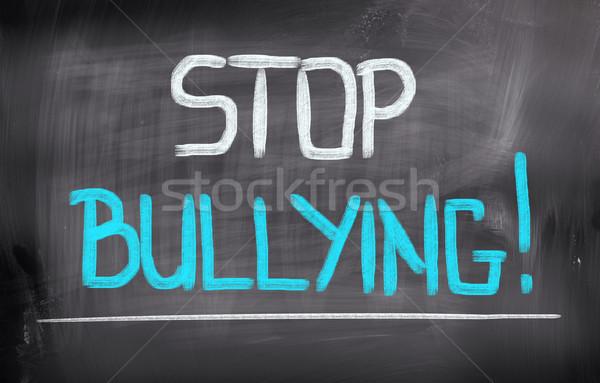 Stoppen triest jonge geweld concept Stockfoto © KrasimiraNevenova