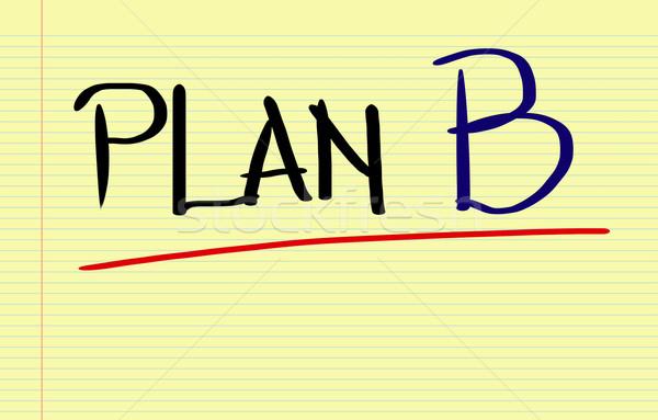 Plan b gelecek tahta yönetim plan değiştirmek Stok fotoğraf © KrasimiraNevenova