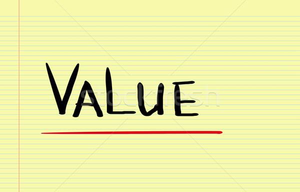 Değer kurumsal fikir kalite fiyat metin Stok fotoğraf © KrasimiraNevenova