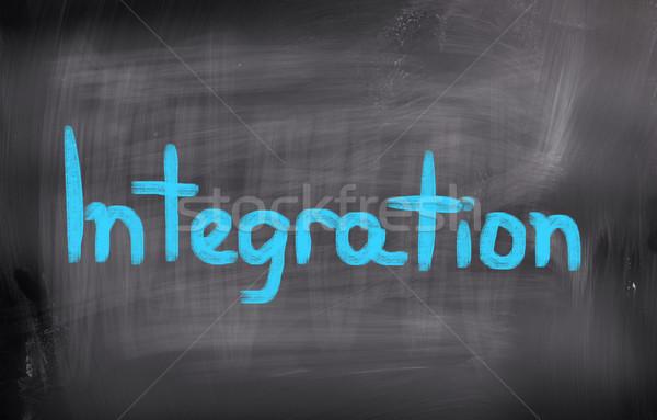 Integratie geld abstract veiligheid sleutel hersenen Stockfoto © KrasimiraNevenova