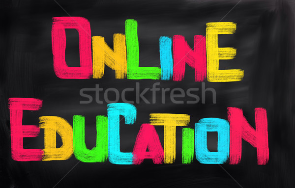 Línea educación Internet estudiante web estudio Foto stock © KrasimiraNevenova