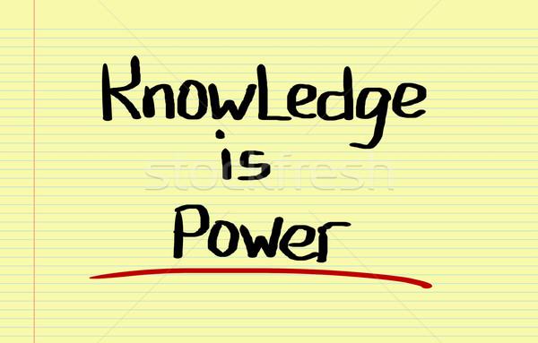 Knowledge Is Power Concept Stock photo © KrasimiraNevenova