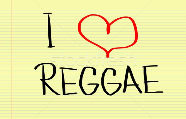 Szeretet reggae tánc szív rádió feliratok Stock fotó © KrasimiraNevenova