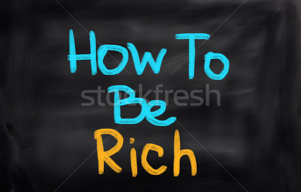 Stock photo: How To Be Rich Concept
