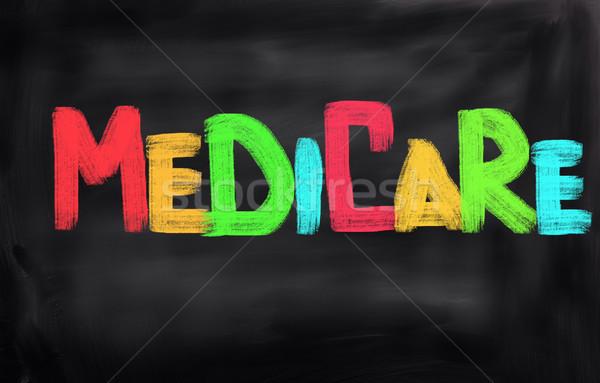 Medicate orvosi háttér biztonság felirat élet Stock fotó © KrasimiraNevenova