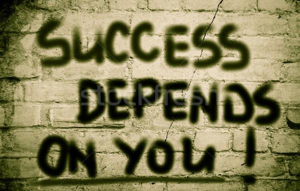 Success Depends On You Concept Stock photo © KrasimiraNevenova