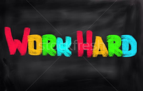 作業 重労働 ビジネス 楽しい 金融 企業 ストックフォト © KrasimiraNevenova