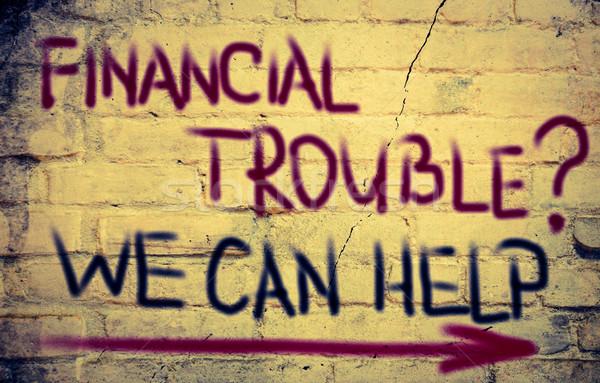 Pénzügyi gond munka otthon bank gondolkodik Stock fotó © KrasimiraNevenova