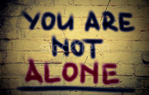 You Are Not Alone Concept Stock photo © KrasimiraNevenova