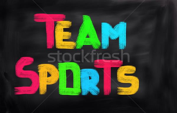 Sports d'équipe sport groupe temps équipe mode de vie Photo stock © KrasimiraNevenova