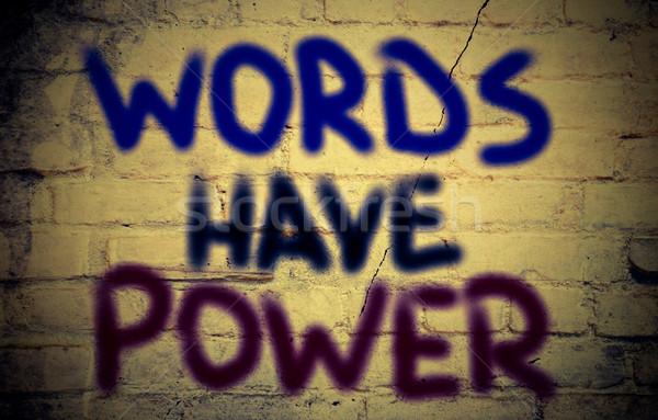 слов власти бизнеса образование исполнительного связи Сток-фото © KrasimiraNevenova