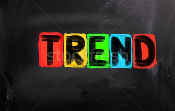 Tendenza marketing post moderno idea nuovo Foto d'archivio © KrasimiraNevenova