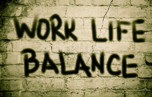 Trabajo vida equilibrio signo estrés gestión Foto stock © KrasimiraNevenova