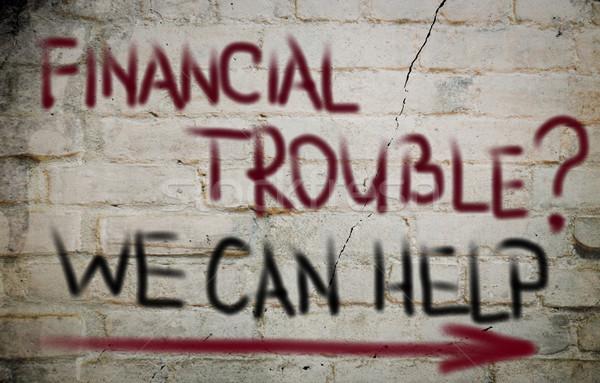 Stock fotó: Pénzügyi · gond · munka · otthon · bank · gondolkodik