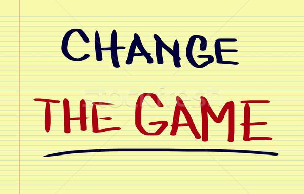 Change The Game Concept Stock photo © KrasimiraNevenova