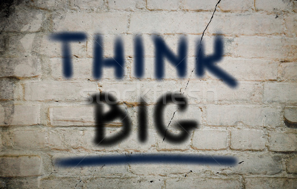 Stock photo: Think Big Concept