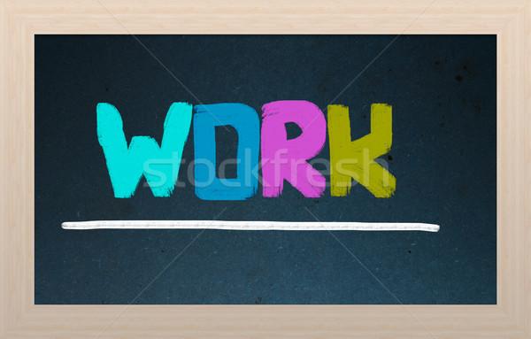 Work Concept Stock photo © KrasimiraNevenova