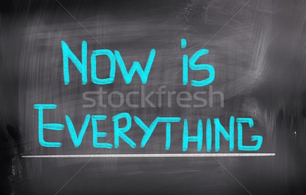 Now Is Everything Concept Stock photo © KrasimiraNevenova