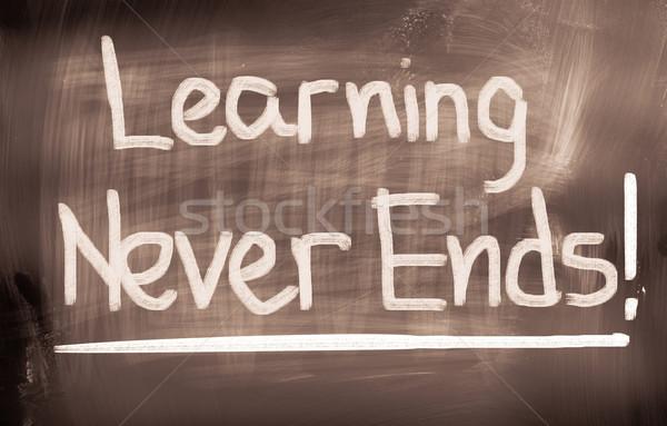 Learning Never Ends Concept Stock photo © KrasimiraNevenova