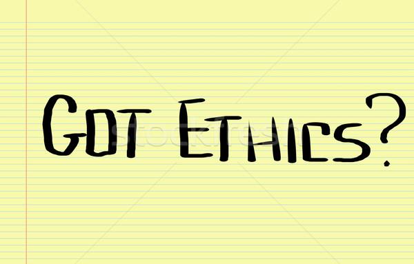 Ethik Konzept Text Wahl Richtung Lösung Stock foto © KrasimiraNevenova