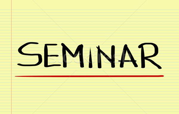 Seminário reunião professor indústria sucesso profissional Foto stock © KrasimiraNevenova