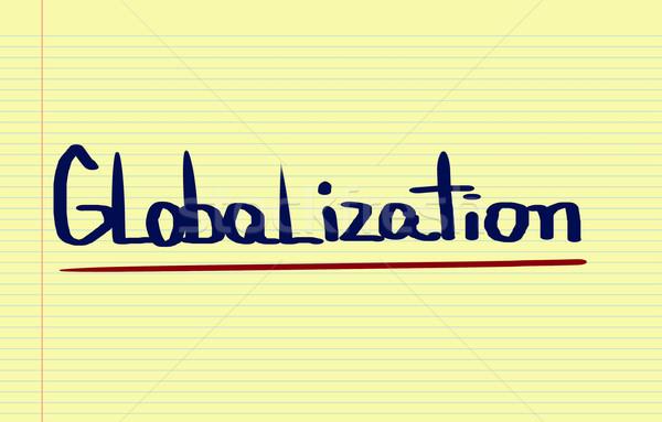 глобализация здании Мир группа команда корпоративного Сток-фото © KrasimiraNevenova