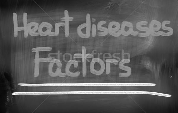 Hartziekte geneeskunde stress ziek zorg borst Stockfoto © KrasimiraNevenova