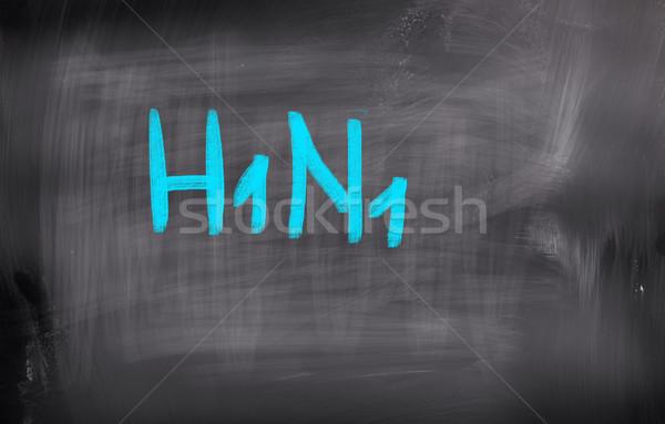 H1n1 virus médicos atención humanos biología Foto stock © KrasimiraNevenova