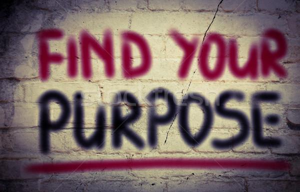 Encontrar propósito pensar objetivo inicio paso Foto stock © KrasimiraNevenova