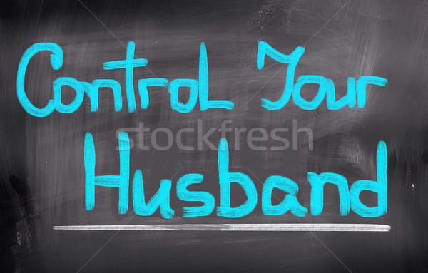 Controle echtgenoot achtergrond communicatie macht vrouwelijke Stockfoto © KrasimiraNevenova