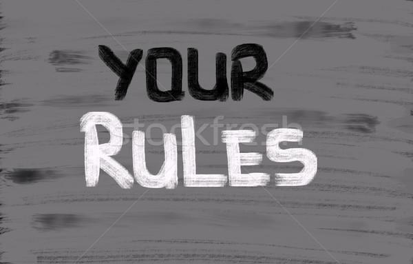 Rules Concept Stock photo © KrasimiraNevenova
