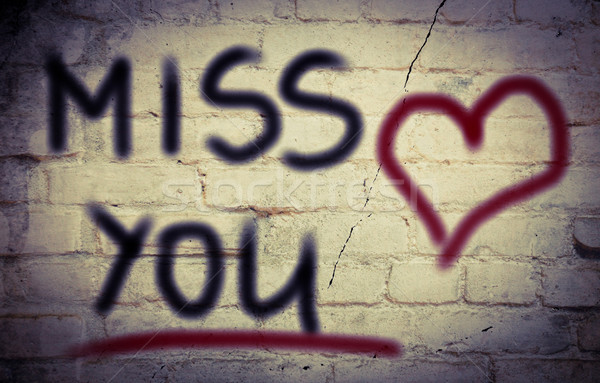 Miss You Concept Stock photo © KrasimiraNevenova
