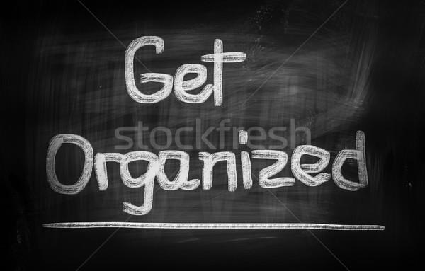 Organizado éxito presentación plan visión idea Foto stock © KrasimiraNevenova