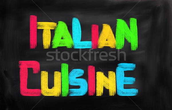 İtalyan gıda gıda peynir yağ domates pişirme Stok fotoğraf © KrasimiraNevenova