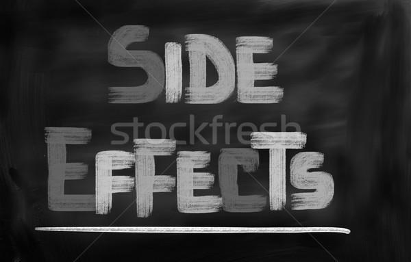 Oldal effektek orvosi egészség háttér tudomány Stock fotó © KrasimiraNevenova
